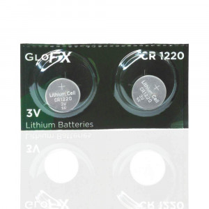 CR1220 Battery Lithium Button Coin Cell Batteries - 3V 3 Volt - Remote Watch Jewelry led Key fob Replacement 1220 CR Pack Set Bulk (2 Pack)
