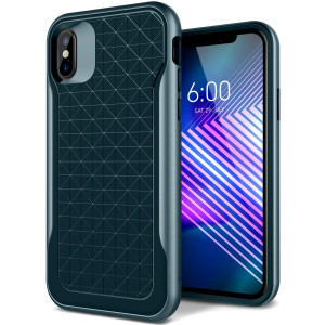 Caseology [Apex Series] iPhone X Case - [3D Pattern Design] - Aqua Green