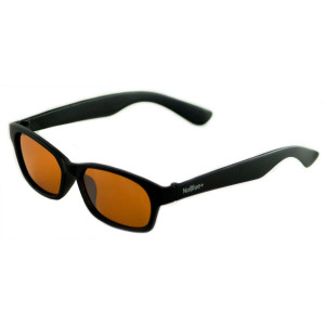 Blue Light Blocking Glasses Amber Tinted Lens Anti-Glare Blocks 99% of Blue/UV Rays (Includes Hack Your Sleep Ebook) - Dark Amber Tint to Prevent Eye Strain from Screens Affecting Sleep