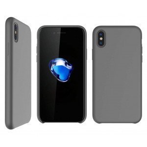 Bear Motion for iPhone X/XS Case - Premium Shockproof Impact Resistant Back Cover Case for iPhone X/XS with Premium Liquid Silicon Microfiber Lining (Gray)