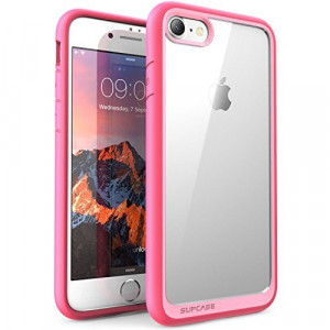 iPhone 8 Case, SUPCASE Unicorn Beetle Style Premium Hybrid Protective Clear Bumper Case [Scratch Resistant] Apple iPhone 7 2016 / iPhone 8 2017 Release-Pink