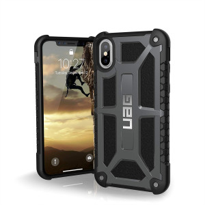 URBAN ARMOR GEAR UAG iPhone Xs/X [5.8-inch Screen] Monarch Feather-Light Rugged [Graphite] Military Drop Tested iPhone Case