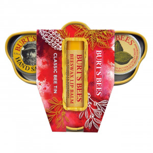 Burt's Bees Classic Tin Trio Gift Set, 3 Travel Size Products in Gift Box - Cuticle Cream, Hand Salve and Lip Balm