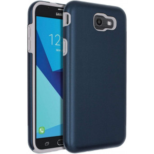 SENON Slim-fit Shockproof Anti-Scratch Anti-Fingerprint Protective Case Cover for Samsung Galaxy J7 V 2017,Galaxy J7 2017,Galaxy J7 Sky Pro,Galaxy J7 Perx,Galaxy J7 2017(ATandT),Blue