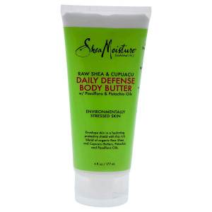 Shea Moisture Raw and Cupuacu Daily Defense Body Butter Moisturizer for Unisex, 6 Ounce