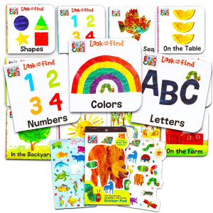 "Eric Carle Board Books Set For Toddlers Babies Kids -- Pack of 12 ""My First"" Books with Stickers (ABC, Numbers, Colors, Shapes and More!)"