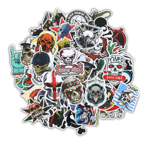 Halloween Sticker Gumind Sugar Skull Stickers Pack 100 PCS Include Zombie Skeleton And Ghost Pattern For Laptop,Car,Motorcycle,Bicycle,Luggage,Graffiti,Skateboard Sticker Hippie Decals Bomb Waterproof