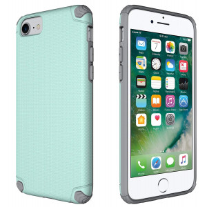 iPhone 6/6s/7/8 Case, CellEver Slim Guard Pro Protective Shock-Absorbing Scratch-Resistant Drop Protection Cover for Apple iPhone 6 / 6s / 7/8 (Mint/Gray)