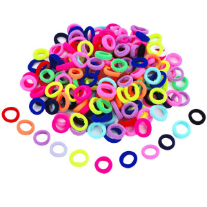 200 Pieces Mini Hairbands Girl Baby's Elastic Hair Ties Tiny Soft Rubber Bands for Baby Kids (Assorted Colors)