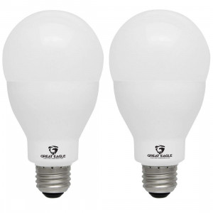 Great Eagle LED 23W Light Bulb (Replaces 150W  200W) A21 Size with 2600 Lumens, Non-Dimmable, 3000K Bright White, UL Listed (2-Pack)