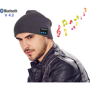 Bluetooth Beanie Hat Headphones Upgraded V4.2 Wireless Smart Beanies Headset Winter Music Hat Knit Cap with Built-in Stereo Speaker Unique Christmas Tech Gifts for Men Women Mom Teen Boys Girl Her