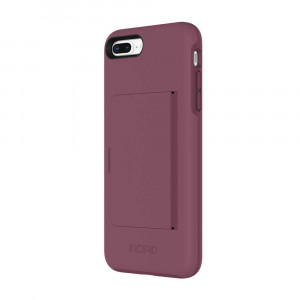 Incipio IPH-1503-PLM Apple iPhone 7 Plus / 8 Plus Stowaway Credit Card Hard Shell Case with Silicone Core - Plum