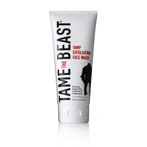 Men's Exfoliating Face Wash Tingle Facial Scrub with Peppermint, Ginseng, Green Tea, Caffeine, Pomegranate, Apple, Sugarcane, and Vitamin E - YAWP by TAME the BEAST