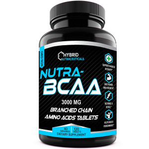 Nutra BCAA 2:1:1 Pills 3000 mg BCAA Pre and Post Workout Supplements, Amino Acids Supplements for Endurance, Recovery, Performance, Post Workout Recovery Drink