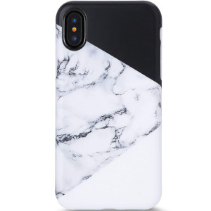 VIVIBIN iPhone X Case,iPhone Xs Case, Cute Black White Marble for Men Women Girls Clear Bumper Slim Fit Matte TPU Soft Silicone Rubber Best Protective Cover Thin Phone Case for iPhone X/iPhone Xs