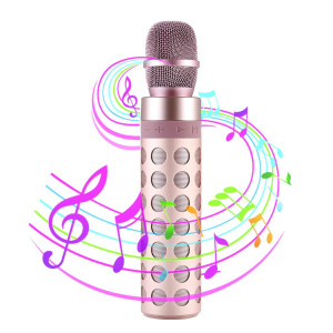 Bluetooth Karaoke Microphone, SENDOW Bluetooth Portable Mic Speaker 2-in-1 Player for IOS Android Smartphone/PC, Home KTV Outdoor Party Playing Singing Support SD Card for Children's Gift