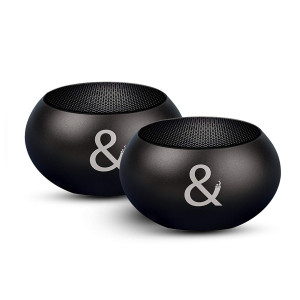 X2 Portable Bluetooth Wireless Surround Sound Speakers, Louder Volume 150W PMPO Deep Bass, 2 Speakers Connect to 1 Device, Aluminum Mini Wireless