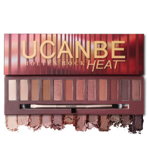 Ucanbe Nude Red Eyeshadow Palette Glitter Matte Metallic Pigmented Eye Shadow Warm Shimmer Waterproof long last Makeup Pallet