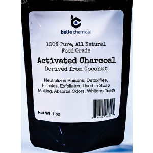 Organic Coconut Activated Charcoal Powder - Food Grade , Kosher - Teeth Whitening, Facial Scrub, Soap Making (1 Ounce to 5 pounds (1 Ounce)