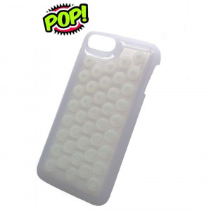 IPhone 7 Plus case IPhone 8 Plus case HHYCT Funny Popping Decompression Bubble Wrap Back Soft Silicone Case Cover for iPhone 7/8 Plus 5.5 Inch (White)