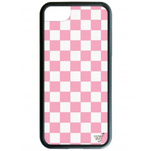 Wildflower Limited Edition iPhone Case for iPhone 6, 7, or 8 (Pink Checkered)