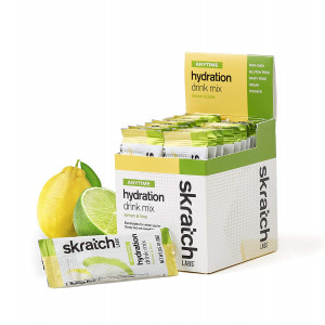 Skratch Labs: Anytime Hydration Drink Mix, Lemon and Lime, 20 Pack Single Serving Box (Formerly Daily Electrolyte Mix)