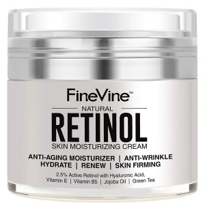 Retinol Moisturizer Cream for Face and Eye Area - Made in USA - with Hyaluronic Acid, Vitamin E - Best Day and Night Anti Aging Formula to Reduce Wrinkles, Fine Lines and Even Skin Tone.