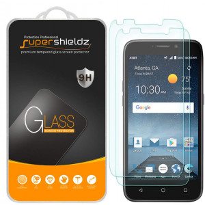 [2-Pack] Supershieldz for ZTE Maven 3 (ATandT) Tempered Glass Screen Protector, Anti-Scratch, Bubble Free, Lifetime Replacement Warranty