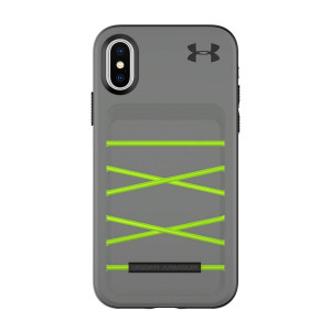 Under Armour UA Protect Arsenal Case for iPhone X - Graphite/Quirky Lime