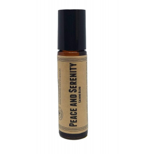 Peace And Serenity Pre-Diluted Essential Oil Roll-On Blend 10ml (1/3oz) | Calming, Anxiety, Improved Sleep, Grief, Stress, Emotional Support