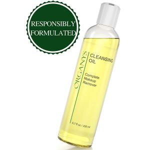 Organys Cleansing Oil and Makeup Remover Best Natural Anti Aging Gentle Daily Face Wash Deep Cleanser Reduces The Look Of Pores Acne Blackheads Breakouts For Sensitive Oily Dry Combination Skin