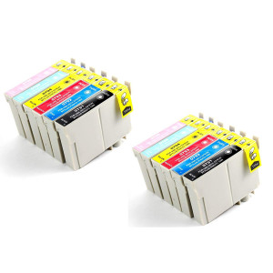 12-Pack Remanufactured T079 Ink Cartridges Artisan 1430, Stylus Photo 1400 (2BK, 2C, 2M, 2Y, 2LC, 2LM)