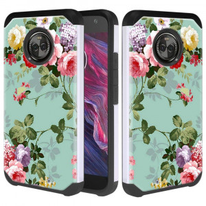 Moto X4 Case, Linkertech Heavy Duty Protection and Hybrid Shock Absorption Dual Layer Protector Case Cover for Motorola Moto X (4th Generation) (Peony)