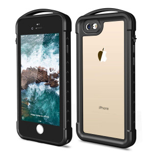 iPhone 7 Plus/8 Plus Waterproof Case,SNOWFOX Shockproof Dirtproof Snowproof IP68 Certified Waterproof Clear Case with Built-in Screen Protector Full-Body Rugged Cover for iPhone 7 Plus/8 Plus 5.5 inch