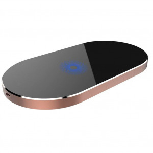 Wireless Charger for iPhone X XS MAX XR, 8,8 Plus, 3 Coils Aluminium Alloy qi Wireless Charging Pad for Samsung Galaxy S9/ S9 Plus Note 8 / S8 / S8 Plus, S7 / S7 etc.