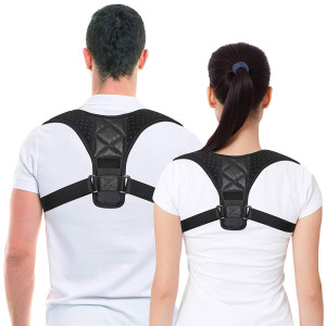 Best Posture Corrector and Back Support Brace for Women and Men by COMCL, Figure 8 Clavicle Support Brace is Ideal for Shoulder Support, Upper Back and Neck Pain Relief
