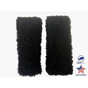 """Allman Premium Fleece Wheelchair Arm Cushions 14"""" (pair) (Black)"""