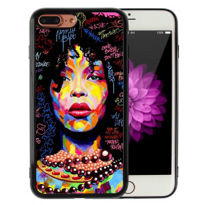 iPhone 7 Plus iPhone 8 Plus Case African American Afro Girls Women Black Hair Colorful Watercolor Artistic Alphabet Print Design Art Slim Fit in Tough Smooth TPU Protective - KITATA
