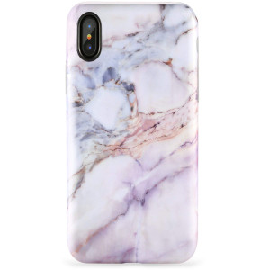 """ZADORN iPhone X Case,iPhone Xs Case,Slim Fit Cute Pink Marble for Girls Women Clear Bumper Soft Silicone TPU Thin Cover Best Protective Phone Case for iPhone X/XS[5.8""""]"""