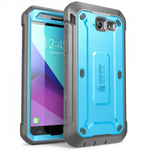 Samsung Galaxy J7 2017, Galaxy Halo Case, SUPCASE [UB Pro Series] Full-Body Rugged Holster with Built-in Screen Protector for Galaxy Halo/J7 2017 (SM-J727), Not fit J7 2018 (SM-J737) (Blue)