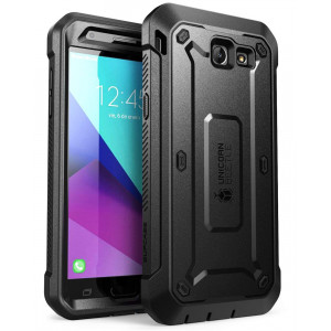 SUPCASE Samsung Galaxy J7 2017, Galaxy Halo Case, [UB Pro Series] Full-Body Rugged Holster with Built-in Screen Protector for Galaxy Halo/J7 2017 (SM-J727), Not fit J7 2018 (SM-J737) (Black)