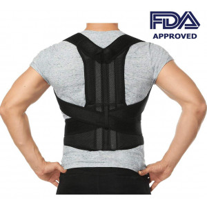 "Comfort Posture Corrector Back Support Brace Improve Posture and Provide Lumbar Support For Lower and Upper Back Pain For Men and Women Full Adjustable Elastic Straps (27.5""-49.2""waist)"