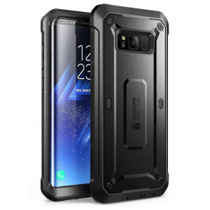 Samsung Galaxy S8 Case, SUPCASE Full-body Rugged Holster Case with Built-in Screen Protector for Galaxy S8 (2017 Release), Not Fit Galaxy S8 Plus, Unicorn Beetle Shield Series - Retail Package (Black)
