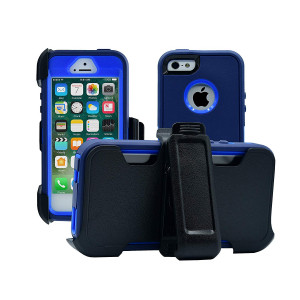 AlphaCell Cover compatible with iPhone 5/5S/SE   2-in-1 Screen Protector and Holster Case   Full Body Military Grade  Protection with Carrying Belt Clip   Protective Drop-proof Shock-proof
