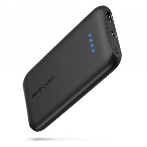 Quick Charge 3.0 RAVPower 10000mAh Portable Charger with QC 3.0 Input and Output, Ultra-Slim 10000 Power Bank with High-Density Li-Polymer Battery Pack for iPhone, iPad, Galaxy and More