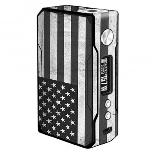 Skin Decal Vinyl Wrap for VooPoo Drag 157W TC Vape stickers skins cover/Black White Grunge Flag USA America