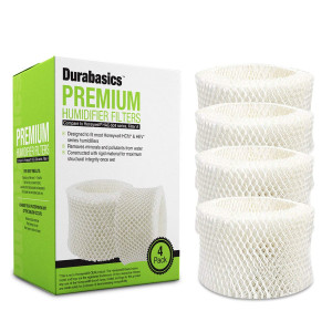Durabasics 4-Pack of Compatible Humidifier Filters, Replacement for Honeywell HAC-504 and HAC-504AW, Filter A, for HCM 350 and Other Cool Mist Models