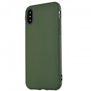 iPhone X Case,iPhone Xs Case, Manleno Slim Fit Full Matte Skin Case 1.5mm Thick Soft Flexible TPU Cover Case for iPhone X Xs 5.8 inch (Matte Hunter Green)