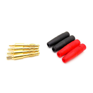 2 Pairs LiPo Charging Plug 4mm Banana Bullet Connector Solder Type for RC Battery Chargers