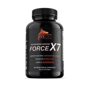 Force X7 - Natural Testosterone Booster for Men, Libido Support, Muscle Builder, KSM-66 Ashwagandha, Shilajit, Longjack, Maca Root, Ginseng, Boron, B12, D3, Zinc, Magnesium and B6 (ZMA)